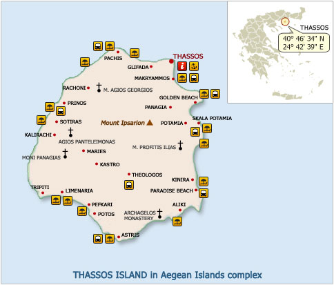 Thassos Travel Guide Awarded Island 2008