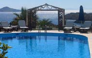 Greece, Greek Islands, Dodecanese Islands,Patmos,Porto Scoutari Romantic Hotel,Skala,Beach