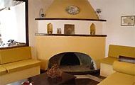 Greece, Greek Islands, Sporades,Skopelos, Port, Eumorfos Traditional House, Fireplace
