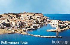Rethymnon prefecture crete island hotels and apartments greece